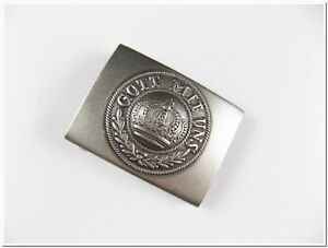 "Prussian Army Belt Buckle - Very Well Made Repro - ""GOTT MIT UNS"" - Repro"
