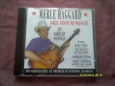 MERLE HAGGARD-OKIE FROM MUSKOGEE LIVE CD