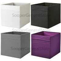 IKEA Drona Storage Box Canvas Shelf Folding Organiser Expedite Toy Boxes Chest