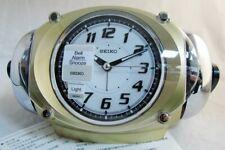 [Seiko]CRAZY Super LOUD Bell Alarm Clock silver QHK043G+Free Ship~100% AUTHENTIC