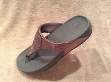 Silver Grey Fit Flop Womens Sandals Shoes Flip Flops Size 11 Microwabbleboard