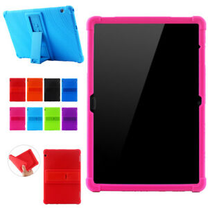For Huawei MediaPad T5 10 Soft Silicone Bracket Stand TPU Drop-Proof Case Cover