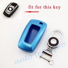 Blue Key Shell Case Holder Bag Ring Cover For BMW 3 5 6 7 Seires X3 X4 Accessory