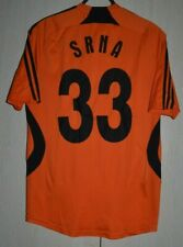 SHAKHTAR UKRAINE 2007/2008 MATCH WORN FOOTBALL SHIRT ADIDAS #33 SRNA CROATIA