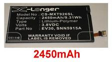 Batterie 2450mAh type EV30 SNN5915A SNN5915B Pour Motorola Droid Razr MAXX HD