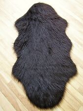 'SPECIAL OFFER' BROWN PELT SHAPE FAUX SHEEPSKIN FUR SHAGGY FLUFFY RUG 70x130cms