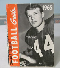 College Football Guide Dick Butkus Gale Sayers Larry Kramer Jim Thorpe 1965