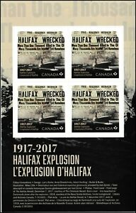Canada 3050 Halifax Explosion 'P' pane (4 stamps) MNH 2017