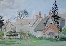Farmstead Cottages Watercolour Painting 1950s Ralph Hartley (British 1926-1988)
