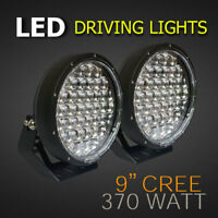 LED Spot/Driving Lights - 2x 9 Inch 370W (740W) with 5D POWER Lenses - Off-Road.
