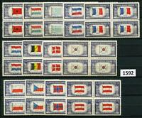 Dealer Dave Stamps 1943-4, OVERRUN COUNTRIES, COMPLETE BLOCKS OF 4, MNH (1592)