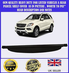 NEW PARCEL SHELF LOAD COVER BLIND FOR MERCEDES ML M CLASS GLE W166 2011-2018