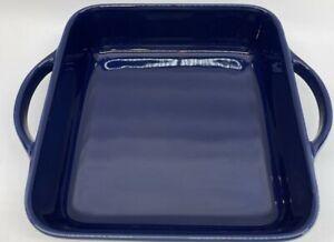"Williams-Sonoma Essential Stoneware Square Baker, Blue 9"" x 9"", Free Shipping"