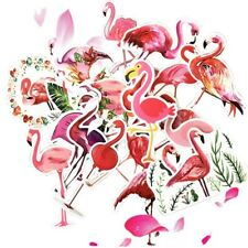 19 pc Waterproof Flamingo Stickers Travel Case Laptop Car Phone Card Art Decals