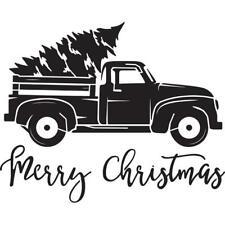 Merry Christmas Truck Stencil