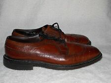 Vintage Brogue Punched Brown Leather OXFORDS For Men 10D Used