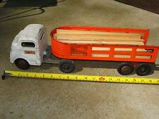 VINTAGE STRUCTO FRIEGHT HAULER SEMI TRUCK AND TRAILER COLLECTABLE CONSTRUCTION