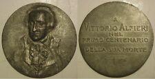 medaglia centenario morte di Vittorio Alfieri poeta e scrittore 1803-1903