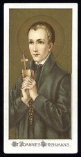 antico santino cromo-holy card S.GIOVANNI BERCHMANS