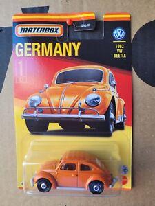 MATCHBOX GERMANY SERIES - 1962 VW BEETLE [ORANGE] NEAR MINT VHTF CARD GOOD