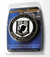 POW MIA METAL ENAMEL CAR GRILL GRILLE AUTO MEDALLION 3.1 INCHES GREAT QUALITY