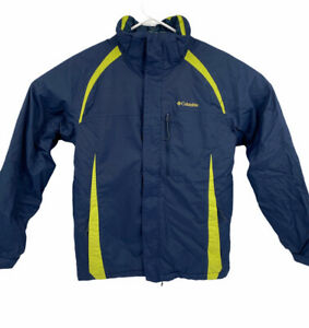 Columbia Omnitech Youth Size XL 18/20 Navy Blue Insulated Ski Snow Winter Jacket