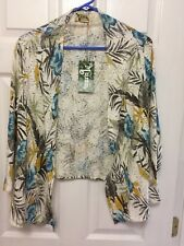 Show Me Your Mumu Open Front Floral Cardigan Size Large NWT