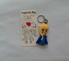 New Elsa Frozen Keychain Soft Rubber Keyring Double Sided - UK Seller!