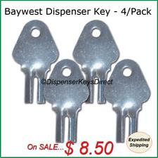 Baywest #1200 Dispenser Key for Paper Towel & Toilet Tissue Dispensers (4/pk.)