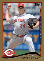 2014 Topps Homer Bailey #d /2014 Gold Parallel Insert PWE Reds #505