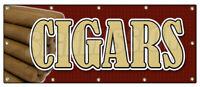 CIGARS BANNER SIGN cigar shop humidor cuban signs smoke shop tobacconist