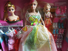 """11"""" DOLL PLAYSET, CLOTHES DRESS SHOES & ACCESSORIES GIFT IDEA UK SELLER FREE P&P"""