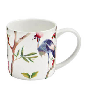 New Ulster Weavers Oriental Birds Watercolour Mug Gift Boxed 300ml Coffee Cup