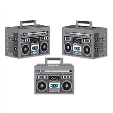 Totally 80's Mini BOOM BOX Radio (3 COUNT) Party Favor Boxes Decorations