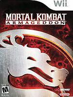 Mortal Kombat Armageddon Nintendo Wii Case No Manual Good Condition