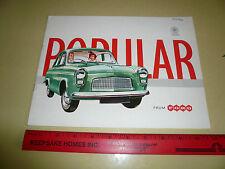 1960 1961 English Ford Popular Sales Brochure - Pestige Catalogue --