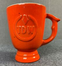 Frankoma TDW T. D. Williamson Pipe Supply Coffee Cup Mug Advertising Pedestal OK