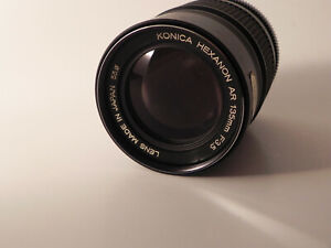 Konica Konishiroku Hexanon Japan AR Mount Telephoto SLR 135mm F 3.5 Lens