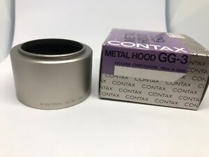【MINT in BOX】 Contax 46mm Metal Hood Silver GG-3 for G G1 G2 from Japan