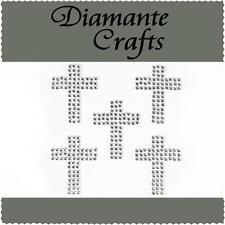 5 cruces Auto Adhesivo del rhinestone claro Diamante Gemas de adorno de artesanía