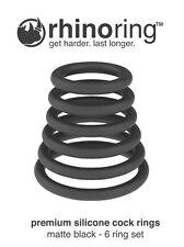 RhinoRing Rubber Silicone Erection Performance Enhancing Penis Rings - 6 Pack
