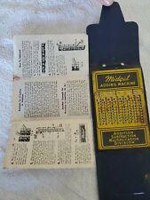 Antique Midget Adding Machine Pocket Vest Calculator