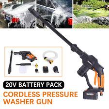 Portable Car Washing Gun Cordless High Pressure Washer+Nozzle+5m Hose 20V 130PSI