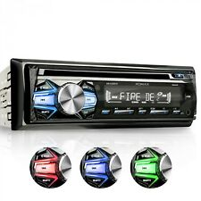 AUTORADIO CON LETTORE CD BLUETOOTH VIVAVOCE 3 COLORI USB SD AUX MP3 SINGOLO 1DIN
