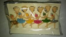 BALLERINA CANDLE HOLDER CAKE TOPPERS VINTAGE OLD STOCK 1960S MID CENTURY
