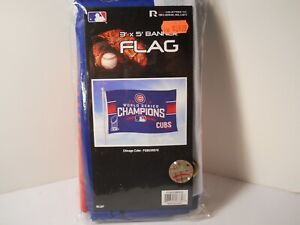 Chicago Cubs World Series 2016 Champions 3 x 5 Banner Flag MLB