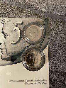 2014-P/D 50th Anniversary Kennedy Half Dollar Uncirculated Coin Set 50c