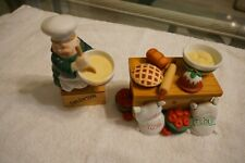 Dept. 56 Merry Makers - Maxwell the Mixer at his Table - Set of 8 - Ships Free!