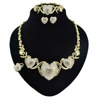 #28 HUGS &KISSES XO SET 18k GF Necklace bracelet Rings size 9