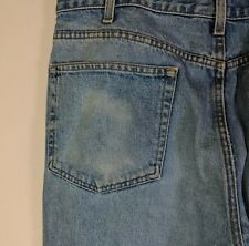 Eddie Bauer Mens Loose Fit Distressed 5 Pocket Jeans  38 x 33